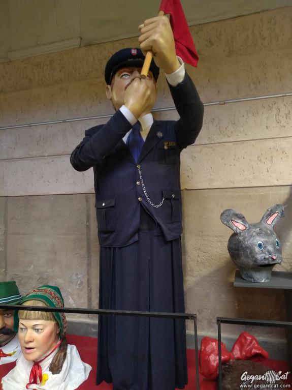 Gegant de l'Associació d'Amics del Tren Olot-Girona