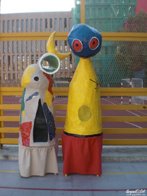 Gegantons de l'escola Joan Miró de Barcelona
