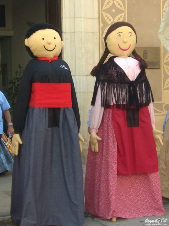 Gegantons Pau i Anna de Benicarló