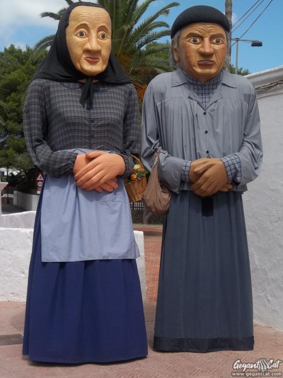 Gegants de Llucmaçanes-Maó (l'avi Perico i s'àvia Aguedet)