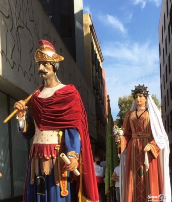 Gegants de Sant Roc, o vells, de la Plaça Nova