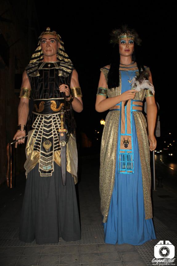 Gegants Egipcis del Passeig Torroja de Tarragona