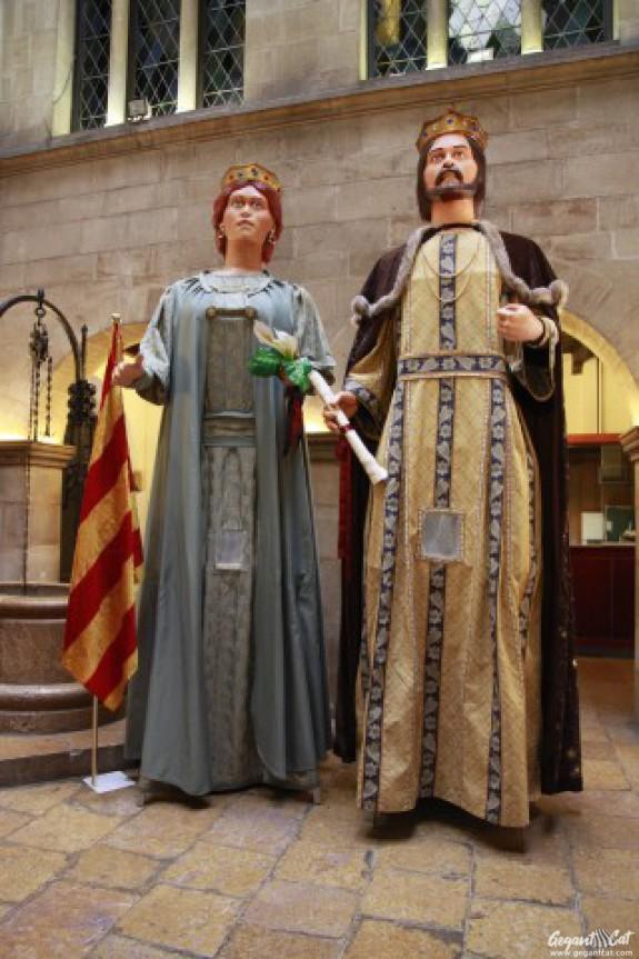 Gegants grans del Grup Cultural Garrigues
