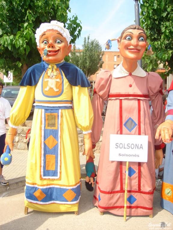 Gegants Mocós i Geganteta del Carnaval de Solsona