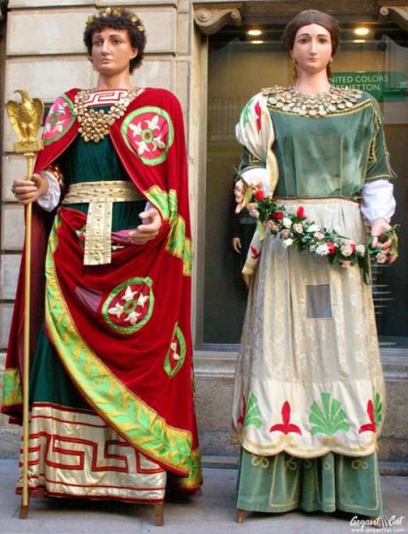 Gegants Romans de la Paeria de Lleida