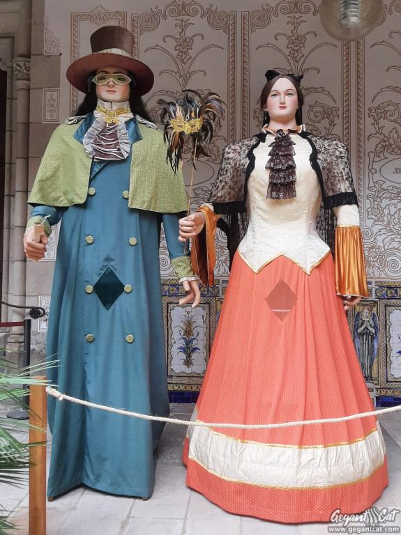 Gegants vells de la Casa de la Caritat de Barcelona o del Carnaval